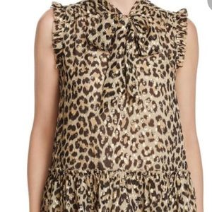 Kate Spade Leopard Print Top Size S; NWT